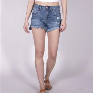 Vanilla Star Festival Short Distressed Fray Hem 9